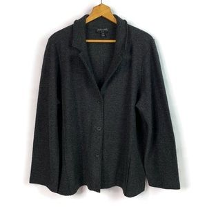 Eileen Fisher Charcoal Black Merino Wool Sweater